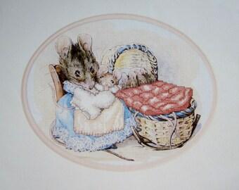 HUNCA MUNCA And BABIES Beatrix Potter ColorArt Cross Stitch Kit Needle Treasures #02578