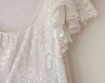 Semi-Formal White Lace and Solid Black Dress
