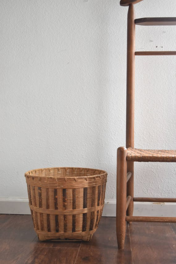 extra large woven rattan bamboo basket planter with handles