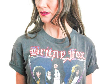Vintage Britny Fox shirt Rock Revolution L