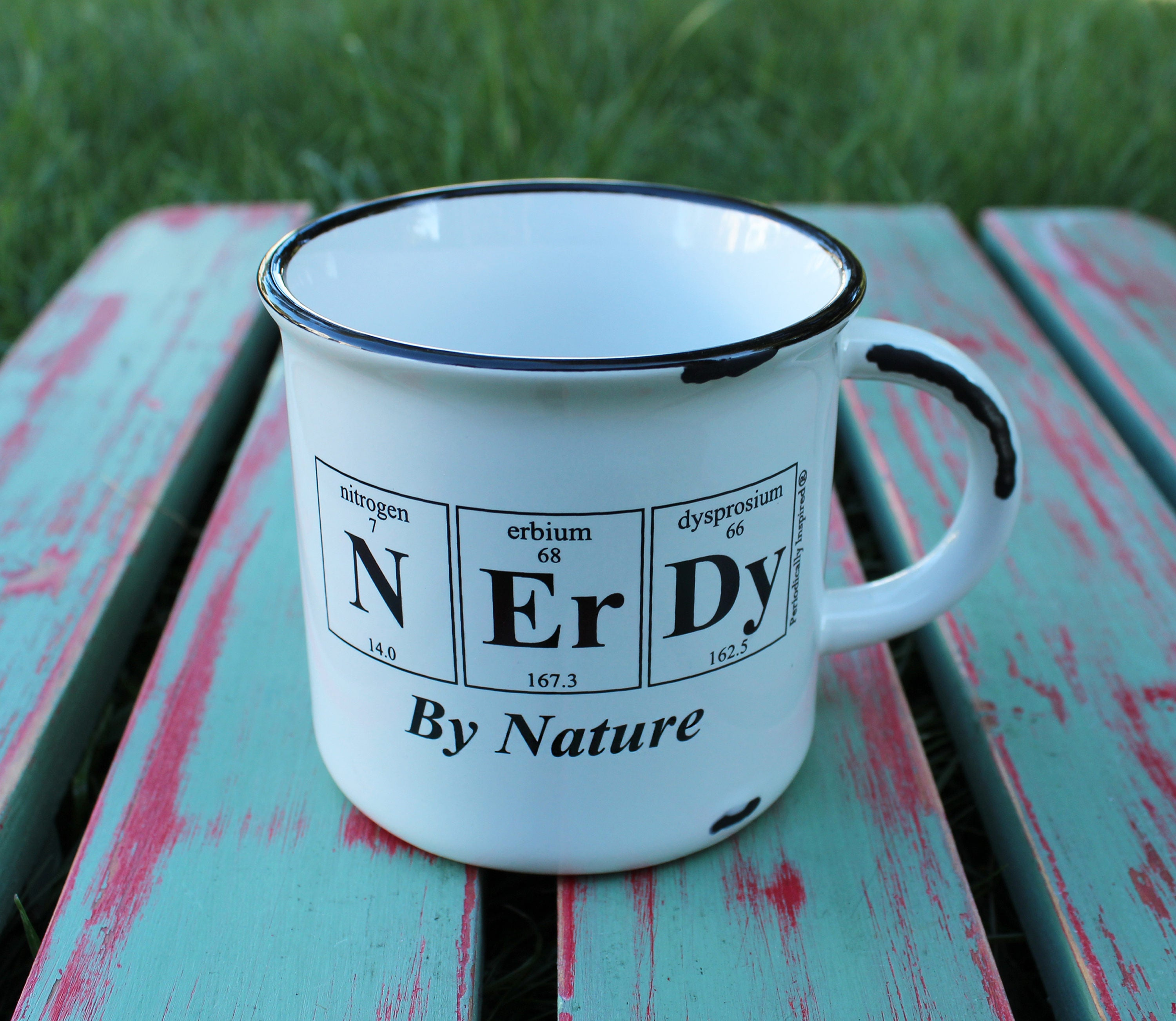 NERDY By NATURE Periodic Table Coffee Cup by Periodically