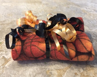 Basketball Orange Reversible Burp Cloth - Ready to Ship by PiquantDesigns