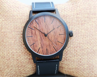 SALE Personalized Wooden Watch, Groomsmen Gifts,Wood Watch, engraved with personal text - Gift for Him/Her, Anniversary, Wedding gift