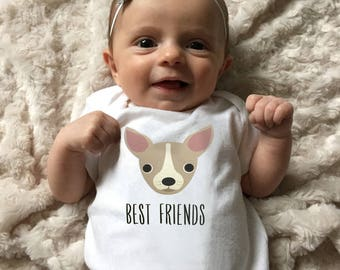 Baby Clothing, Chihuahua baby bodysuit, baby boy clothing, baby girl clothing, baby shower gift