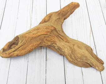 Flat Driftwood Sculpture, Natural Drift Wood, Smooth Driftwood for Mantle, Bookshelves, for Reptile Aquarium, Unique Flat Driftwood Decor