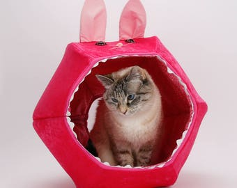 hot pink velvet rabbit novelty cat bed the cat ball cat bed cat cave