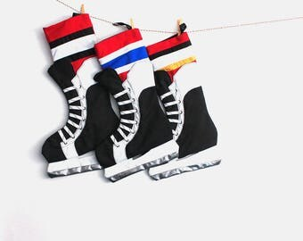 Hockey Christmas Stocking- Ottawa Canadian hockey team stocking