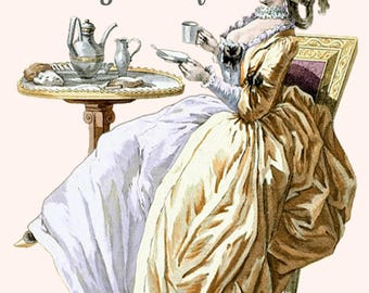 Marie Antoinette Card ~ Espresso Yourself! ~ Funny Postcard ~ Cafe ~ Latte ~ Coffee Beans ~ Coffee ~ Tea ~ Chai ~ Milk ~ Starbucks ~ Gold