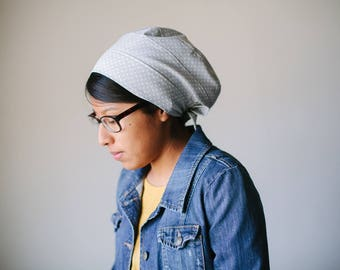 Gray Dots Cotton Snood Headcovering | Women's Headcovering Veil