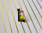 Vintage Enamel Pin - Letter L - Enamel Pin - Lapel Pin - Letter Pin - Tie Pin - Pin Badge - Soft Enamel Pin - Monogram Pin