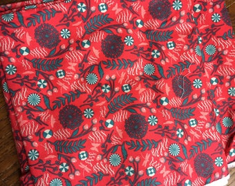 Tula Pink Prince Charming Dandelion in Red colorway Yardage