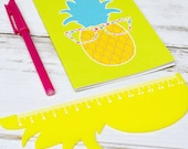 Pineapple Stationery | Personalised Pineapple Ruler 15cm | Novelty Stationery | Office Desk Stationery | Back to School