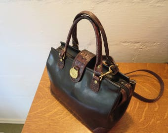 Vintage Brahmin Purse Handbag Brahmin Crossbody Speedy Doctor Bag EXCELLENT