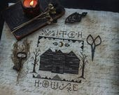 NEW PDF Salem Witch House cross stitch patterns by Blackwood and Briar Halloween gothic e-pattern instant download embroidery