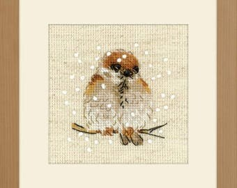Free Gift w/Pre-order Sparrow Kit cross stitch patterns by Riolis at thecottageneedle.com
