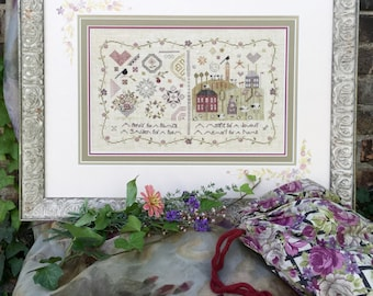 NEW! SHEPHERD'S BUSH On the Road to Paris Kit counted cross stitch patterns Spring 2018 Nashville Market