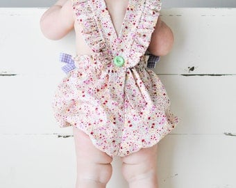Baby Bubble, Spring Floral Love, Birthday Baby, Baby Beach Bodysuit, Gingham | 3-6m-4T | Free Shipping