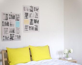 Linen pillowcase Mustard