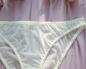 Women Sleepwear & Intimates Panties Handmade Lingerie  The Champagne  Mesh Classic Panties Made to Order