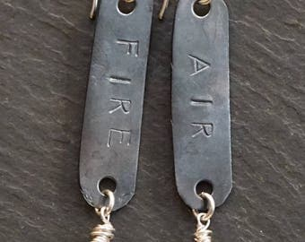 Lightening/warrior earrings/givingthroughjewelry/ALCCREATIONS