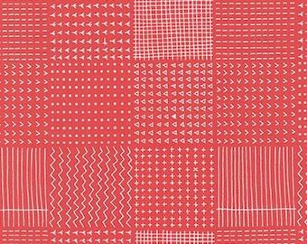 Blueberry Park Rough Patch in Coral, Karen Lewis Textiles, Robert Kaufman Fabrics, 100% Cotton Fabric, AWI-15751-143 CORAL
