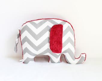 Alabama crimson tide, roll tide, crimson tide elephant, University of Alabama inspired, crimson tide baby, elephant pillow - ready to ship
