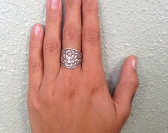 As seen in YOGA Magazine LOTUS Flower Ring, Best Seller! Sculpted sterling or 14k Gold Lotus Flower Jewelry. Lotus Ring, Yoga jewelry, lotus