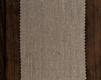 Earthy Natural Linen Fabric