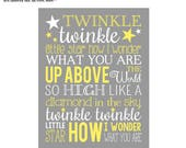 8x10 and 11x14 Twinkle Twinkle Little Star Wall Art digital- you print your own- INSTANT DOWNLOAD