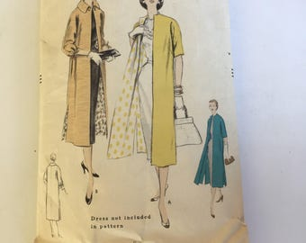 Vintage 50s Vogue Coat Pattern 1955 Pattern 8549 Size 12 Bust 30 Hip 33