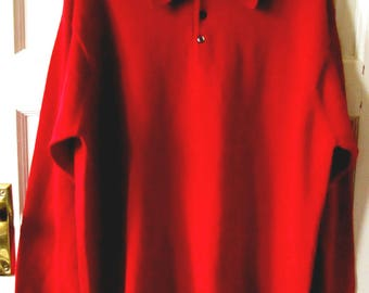 Men's Brooks Brothers Red Merino Wool Polo Style Sweater, L