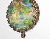 Neptune and the mermaids altered art image bead charm diy jewelry making pamelia designs