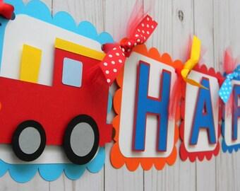 Train Birthday Banner Party Supplies Decor