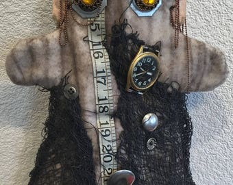 Hand Puppet,Grunge,Boho,Story Telling,Puppet Show,Entertainment,Puppet show,One of a Kind Puppet,Steampunk,Handcrafted,Unique design,OOAK