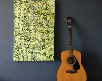 Apple Green Grid Painting