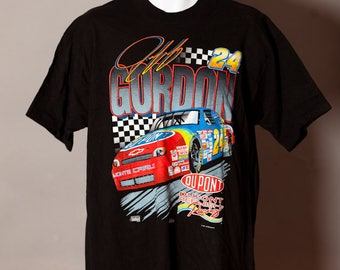 Vintage 90s Jeff Gordon NASCAR Racing Tshirt - XL - store tag attached