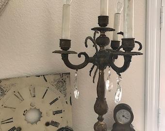 Vintage Brass Candelabra - 3-Arm / 4-Lights - Romantic Home Decor