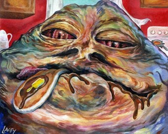 Larger Canvas Print / Jabba The Hutt, With Pancake