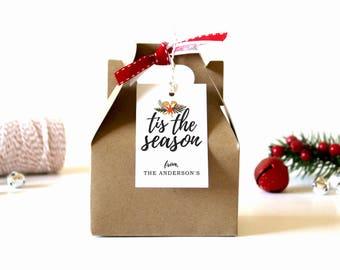 "Personalized Christmas Gift Tags - ""Tis the Season"" (Set of 10) - Christmas Tags, Christmas Gift Wrap, Christmas, Custom Christmas Tags"