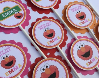 Elmo Inspired Cupcake Toppers