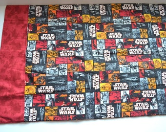 Vintage Star Wars hand made pillow case retro fabric. Cartoons fabric, Star Wars quilting 100% cotton fabric bedding
