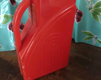 Red Plastic mid century modern pitcher.