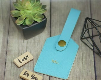 Personalized Luggage Tag from Genuine Leather, Customized Leather Luggage Tag, Travel Tag, Baggage Tag