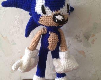 ON SALE - 10% OFF Crochet  Sonic the  Hedgehog