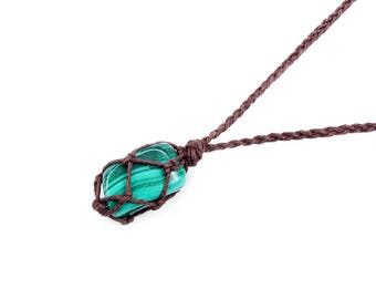 Malachite, Heart Chakra Necklace, Malachite Jewelry, Protection Stone, Mens Necklace, Gift for Him, Metaphysical Jewelry