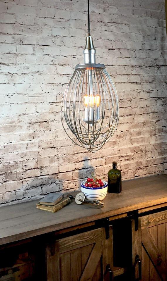 Industrial Hanging Lighting Whisk Pendant Light