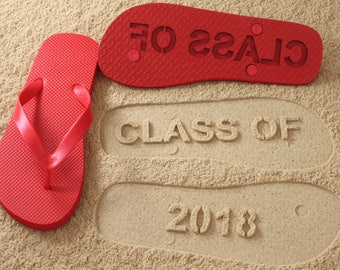 Custom Class of 2018 Flip Flops! *check size chart before ordering*