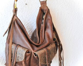 NEW!  Leather bag  Leather steampunk purse Leather weekend bag  Large leather bag MELUSINE