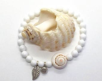 boho jewelry, beach bohemian bracelet, mermaid shell jewelry