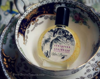 Natural organic perfume - citrus lime rose floral amber - Alice in Wonderland perufme CURIOUSER AND CURIOUSER - choose size